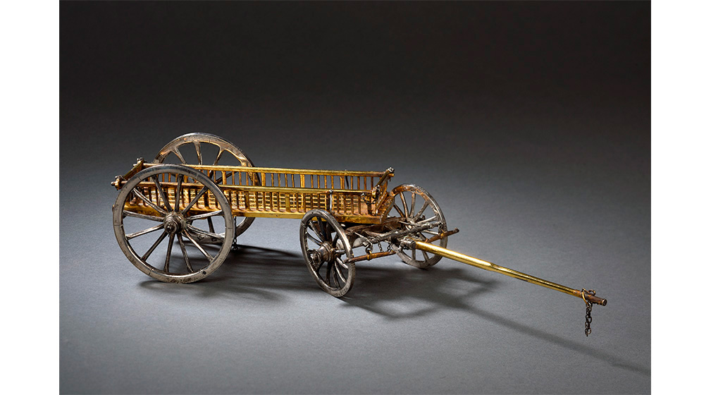 Chariot à fourrage du système Gribeauval