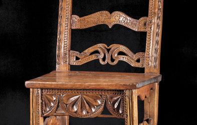 Deux chaises de dentellière du QUEYRAS