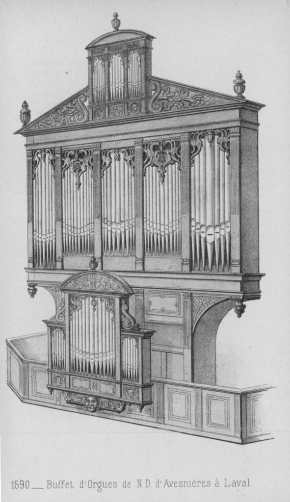 Papotier d'orgue du XVIe siècle