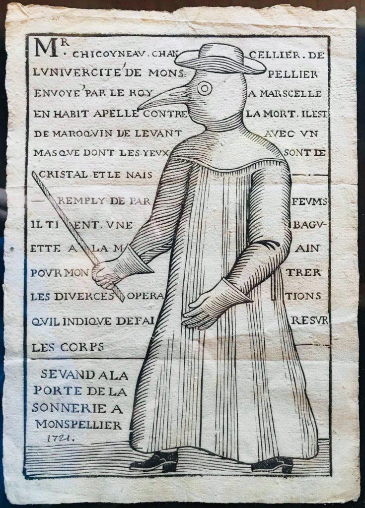 Habit de médecin de la peste 1721
