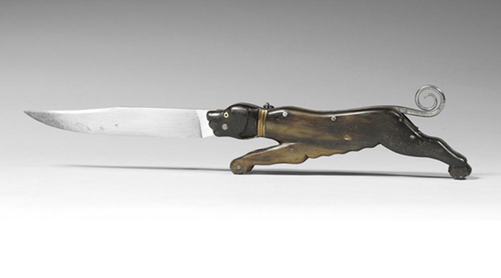 Couteau pliant au chien de chasse