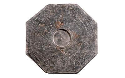Cadran solaire de jardin aux signes du zodiaque