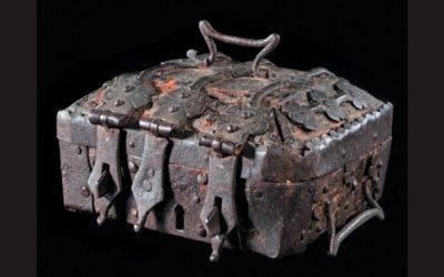 Coffret en cuir XVe-XVIe siècle