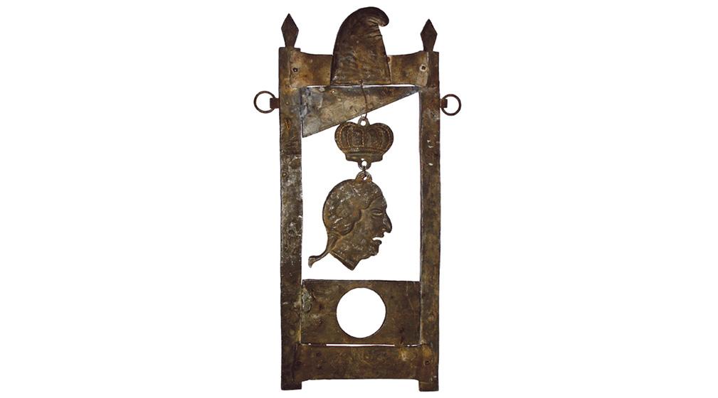 Enseigne Louis XVI guillotiné