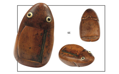 Savoureuse tabatière en forme de grenouille