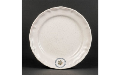 Assiette de banquet d'ordre XVIIIe siècle