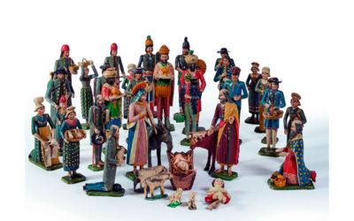 Crèche de Bessans à 37 personnages