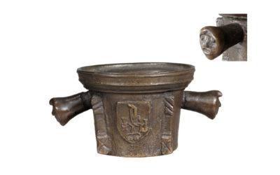 Mortier Espagne XVIe en bronze