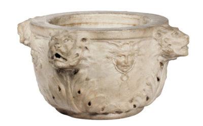 Mortier en marbre blanc Italie XVIe