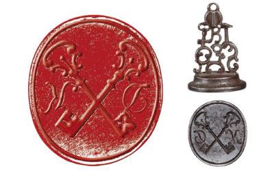 Sceau aux emblèmes d'un serrurier XVIIIe